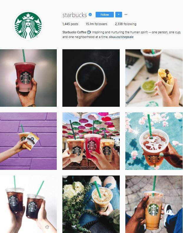 Increase Social Media Followers - Starbucks